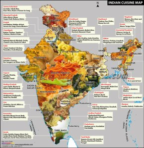Indian Cuisine Map 2