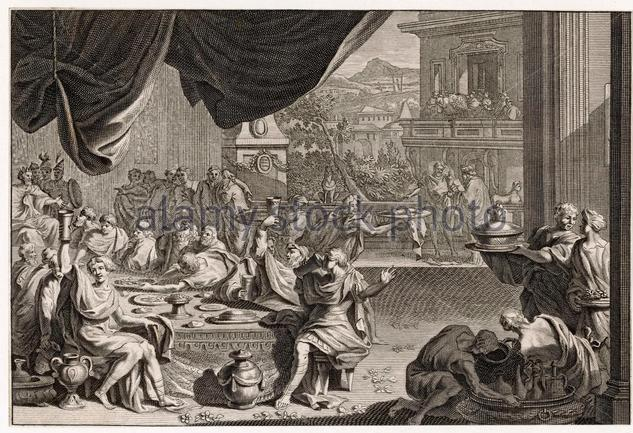 a-busy-scene-at-a-roman-banquet-date-ancient-g3884r