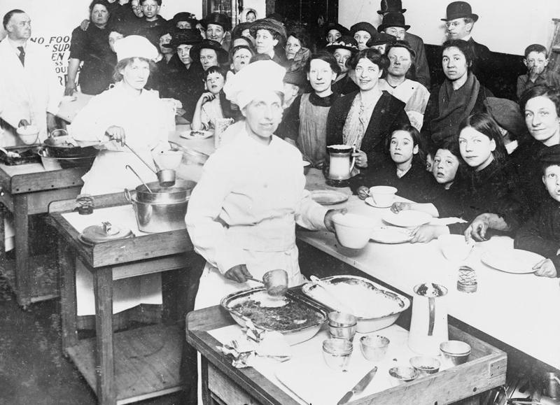 First National Kitchen, London, 1917