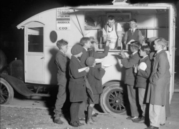 1940's A Coke Fired Fish & Chip Van, Wymering